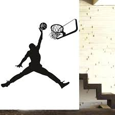 basketball wall stickers slam dunk basketball wall decal kids room new com wall dunk sport basketball wall stickers
