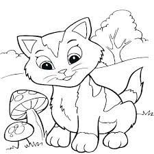 Coloring Pages Disney Pdf Kitten Coloring Page Cute Pages Kitten
