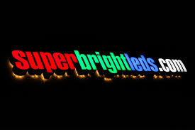 high power rgb led sign module lsm rgb3x3 shown installed in sign letter modules