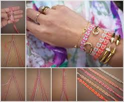 Heart Friendship Bracelet Pattern Simple Ideas