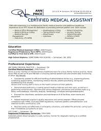 Certified Medical Assistant Resume Awesome Medical Assistant Cover
