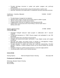Pre op nurse resume