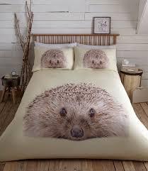 ly hedgehog animal print duvet cover set