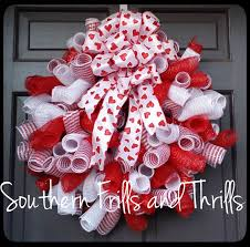 Valentine Deco Mesh Wreath, Valentine's Day Wreath, Curly Q Wreath,  Valentine