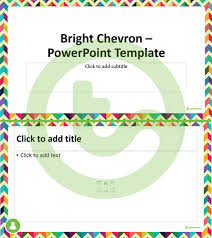 Powerpoint Chevron Template Bright Chevron Powerpoint Template Teaching Resource Teach Starter