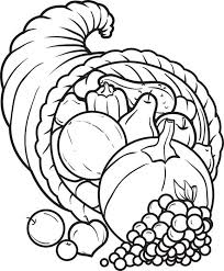 Free Printable Cornucopia Coloring Page For Kids Ideas For Art