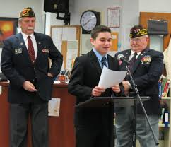 matt ventrella is tops in vfw voice of democracy essay contest  matt ventrella who placed first in the vfw voice of democracy his essay to the school board at a recent meeting