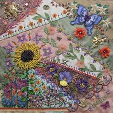 117 best Crazy Quilting, Beading, Embroidery 4a . . . images on ... & I ❤ crazy quilting, beading embroidery . CQ~ Pansy, Butterfly, Flowers~  Bead Embroidery for Beginners ~By Léonie Hartley-Hoover Adamdwight.com