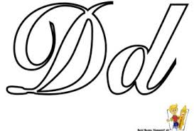 Small Picture Letter D Cursive Coloring Page Letter D nebulosabarcom