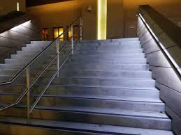 Outdoor stairway lighting Recessed Under Handrail Commercail Stair Lighting Flexfire Leds Commercial Led Strip Lighting Projects From Flexfire Leds