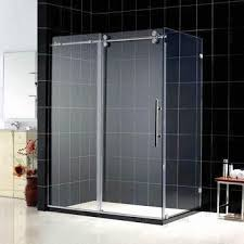 china sliding shower enclosure with 12mm safety shower glass and single sliding front door operations