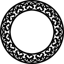 白黒モノクロの花のイラストフリー素材花一輪no704白黒模様輪