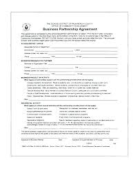 Sample Partnership Agreement Form Business Partnership Contract Template Sample Agreement Form