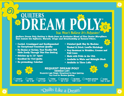 Quilt Batting Quilters Dream Poly Request Low Loft Twin Size 93