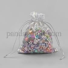 organza gift bags rectangle with moon star pattern 00pt17