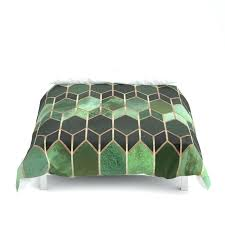 forest green linen duvet cover stained glass 5 by covers