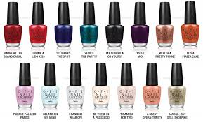 Opi Color Chart Review Colors Shades Opi Venice Nail Polish Collection