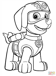 Coloring Pages Rubble Paw Patrol Coloring Page Pagesubble Rubble