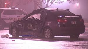 Image result for a car accident at night in a parking lot