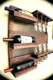 full size of wine rack with glass holder wall mounted metal wine rack 4 long stem