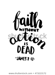 Bible Quotes About Faith Beauteous Bible Quote Faith Without Action Dead Stock Vector Royalty Free