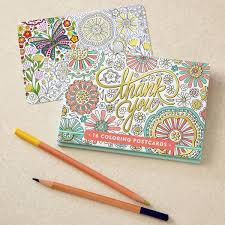 coloring postcards. Simple Postcards Thank You Coloring Postcards In B