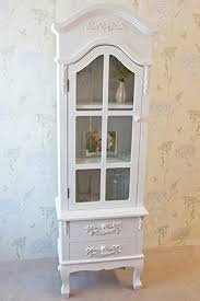 stunning casamore white limoges antique style glass door display cabinet 8211 free delivery