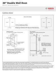 30 double wall oven installation details bosch hbl8651uc user manual page 3