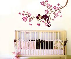 Monkey Bedroom Decorations Beautiful 2 Wall Design For Kids On Designs Zone