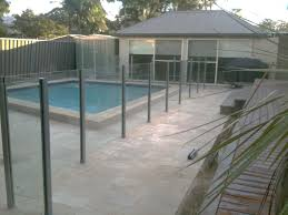 semi frameless glass pool fence with stainless steel square posts north caringbah