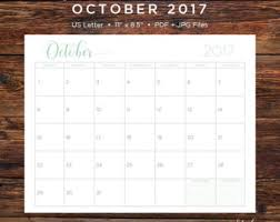 2017 calendar etsy