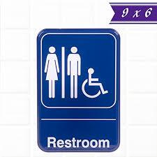 Handicap Bathroom Signs Unique Unisex Restroom Sign Blue And White 48 X 48 Inches Handicap Unisex