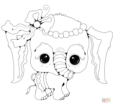 Click The Baby Elephant Girl Coloring Pages Coloring Cartoon