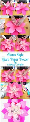 Diy Paper Flower Tutorials Mamas Gone Crafty How To Make Giant Hawaiian Paper Flowers