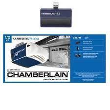 chamberlain 1 2 hp garage door openerShop Chamberlain 05HP Power Drive Chain Garage Door Opener at