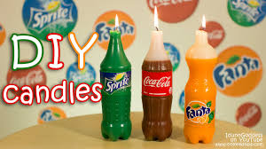 Diy Candles How To Make Coca Cola Fanta And Sprite Candles Diy Youtube