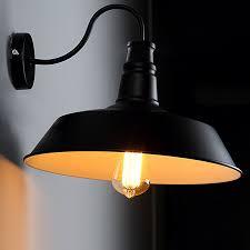 industrial retro gooseneck wall sconce lamp arm barn fixture vintage wall light
