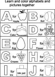 Small Picture Alphabet Coloring Pages For Preschoolers Preschool Within A To Z