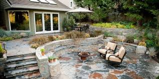 flagstone patio cost.  Patio Attractive Backyard Stone Patio Flagstone Benefits Cost Ideas  Landscaping Network Intended