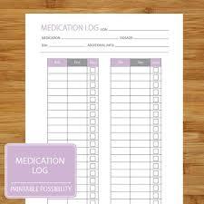 Medication Log Printable Page To Track Medication Dosage Dosage Log Medicine Tracking Log Lavender Purple And Gray
