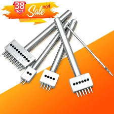 leather hole punch tool spacing punches hand perforated round stitching tools cut punching india leather hole punch