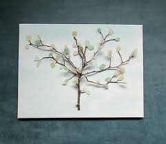 sea glass tree art canvas home