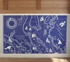 Nautical Chart Wall Mural Map Wall Decal