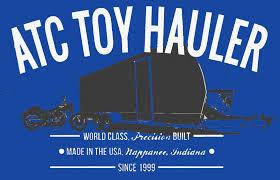 atc vrv toy haulers aluminum trailer pany rv toy haulers