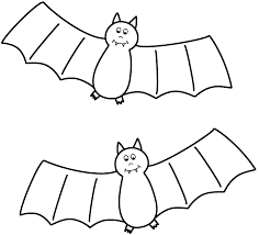 Small Picture Bats Coloring Page Halloween