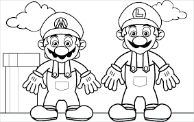 Coloring Page Mario Free Kart Coloring Pages To Print Coloring Pages