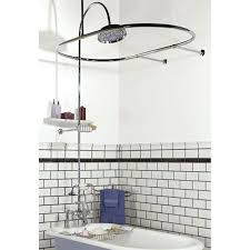 bathroom clawfoot tub shower kit stylish stainless steel faucet