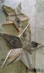 easily add natural elements into your decor with these simple rustic patchwork wooden stars