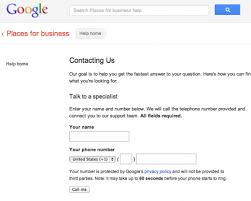 Google Phone Listing Phone Support For Verification Issues With Google Local For