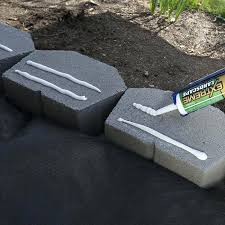 apply concrete adhesive how to build retaining wall around tree on slope how to build a